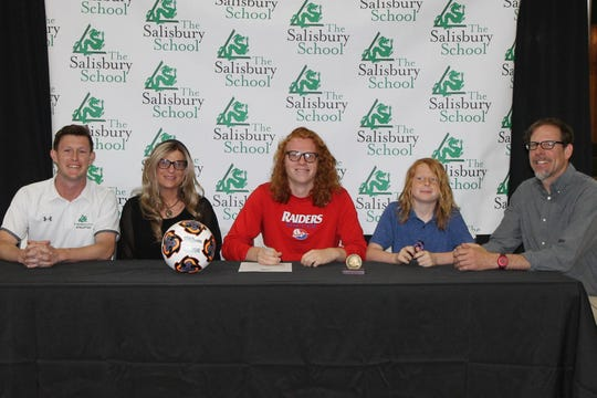 Max Sieg signs his national letter of intent to play soccer at Shippensburg University.