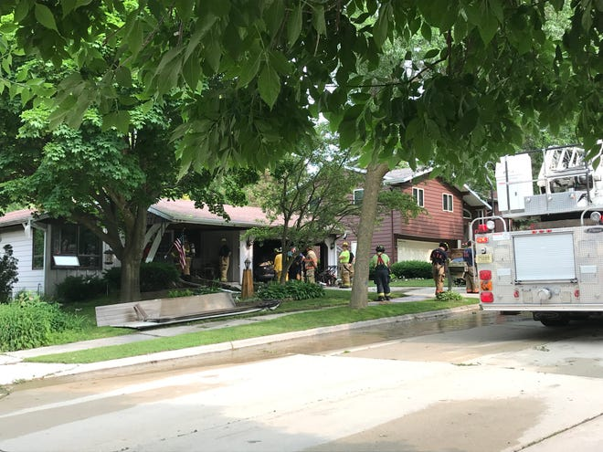 Firefighters responded to a fire in the 4000 block of South 15th Street shortly after 7:00 a.m. Monday, July 8, 2019. Firefighters were still on the scene around 10:00 a.m.