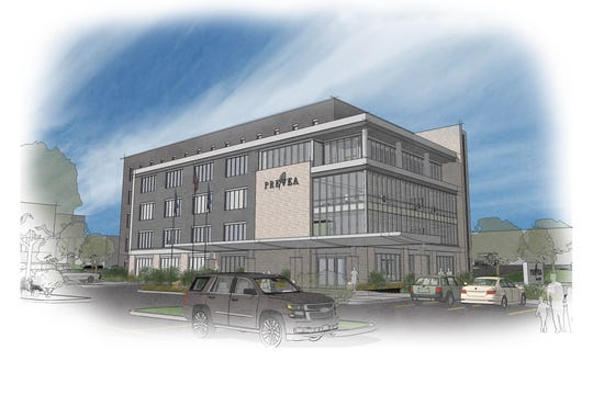 A rendering of the new Prevea Health building scheduled to open Aug. 12, 2019.