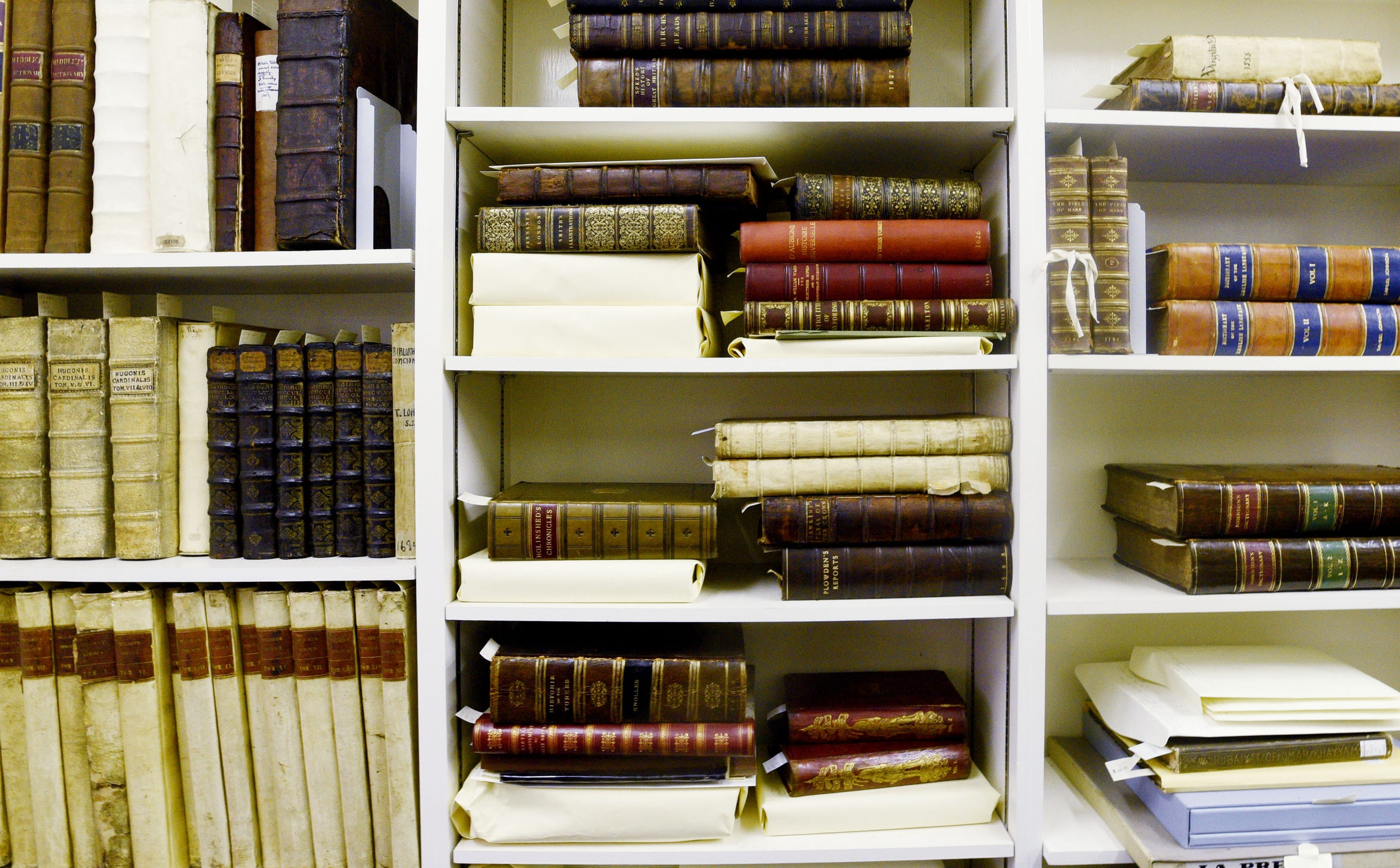 The oldest and most rare books at Noel Memorial Library's rare book collection stay in the vault.