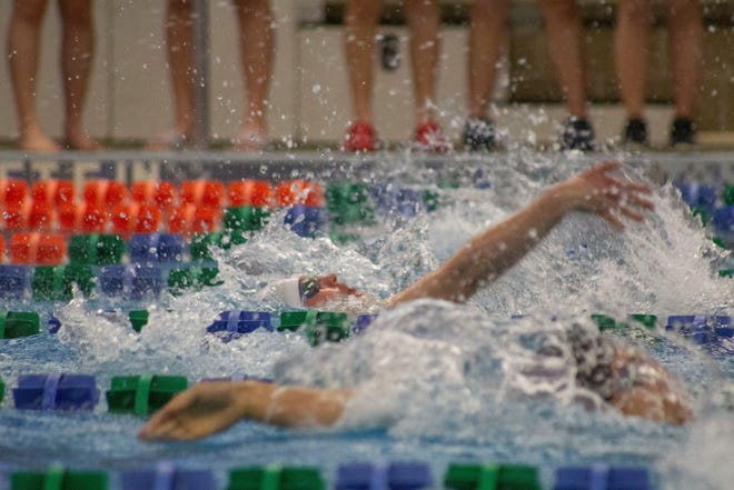 Brandon native Elizabeth Spaans competes for the University of Sioux Falls in 2019.