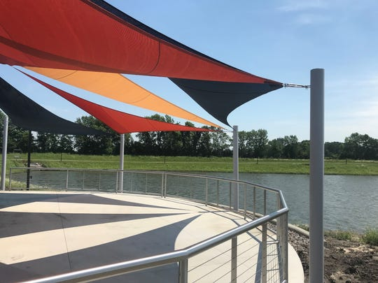 New performance patio at Lake Francis Park on July 8, 2019.