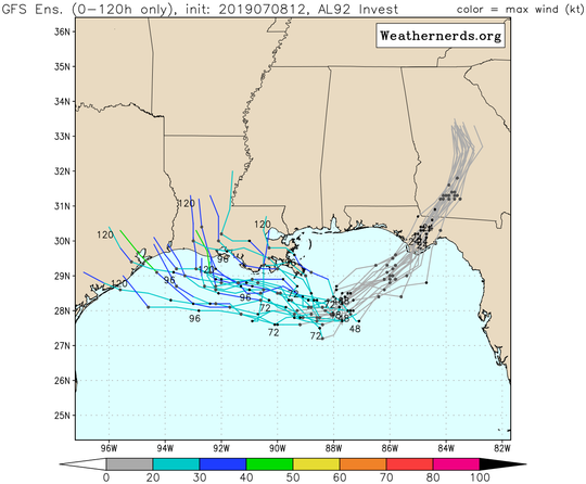 Many models show different paths for the possible tropical depression.