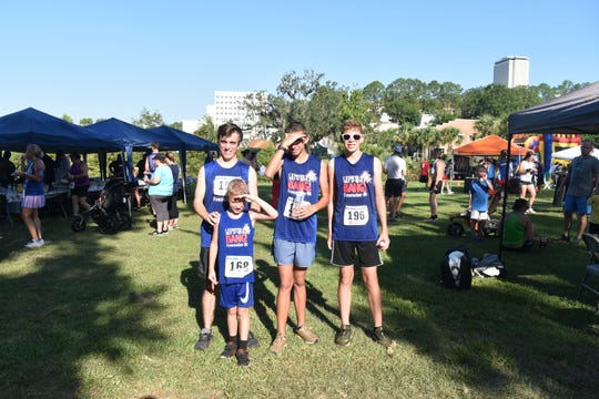 The Mills family at the Firecracker 5K at Cascades Park on the July 4.
