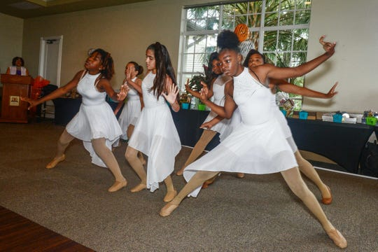 Dancers from the Chuck Hill Unit of the Boys & Girls Clubs of St. Lucie County perform at the Caribbean American Cultural Group's High-Tea, Fashion Show and Silent Auction at the Ballantrae in Port St. Lucie.