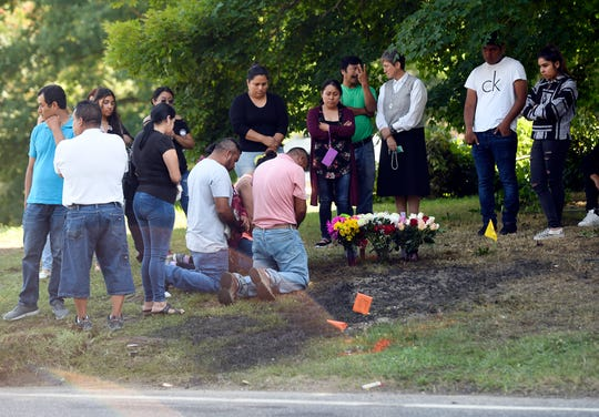 A vigil was held last Monday at the crash site where three members of a Bridgeton family died when the vehicle they were in collided with a propane truck.