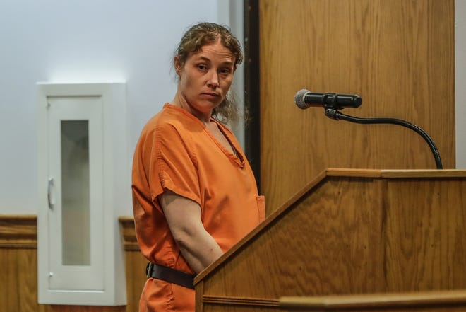 Amanda Lewis appears for her hearings Monday, July 08, 2019, at the Marathon County Courthouse in Wausau, Wis. T'xer Zhon Kha/USA TODAY NETWORK-Wisconsin