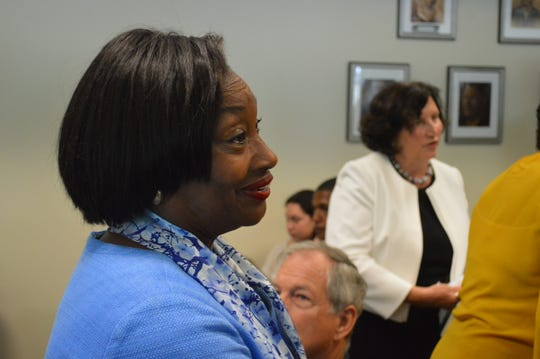 State Senate Majority Leader Andrea Stewart-Cousins, D-Yonkers, at Greenburgh Town Hall on July 8, 2019