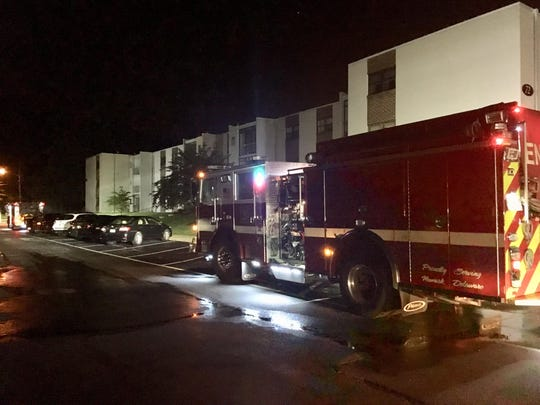 Newark Fire Department responding to the electrical fire on Saturday night.