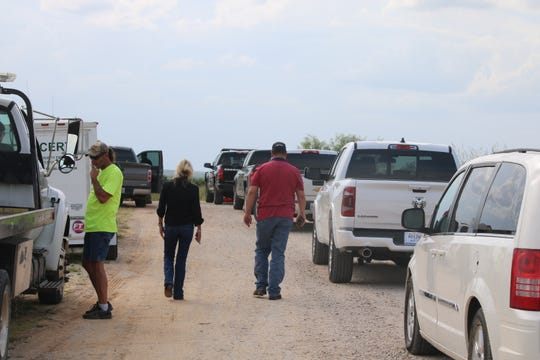 This was the scene Sunday at Lake Cooper near where the body of Manuela Allen of Olney was found. The Texas Department of Public Safety has not confirmed a second crime scene at Lake Cooper, but law-enforcement officers have been spotted there. Photo provided by the Archer County News.