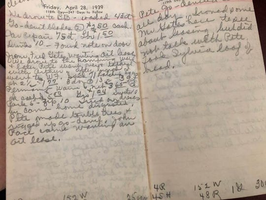 An entry in the diary of Lucile Rogers, a farm wife in Wichita County. The diary has been lost, and teacher Stephanie Stoebe is desperate to get it back.
