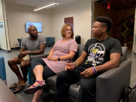 Tenor Jamal Madden, left, soprano Michelle Cipollone and baritone Steven Singleton II recently began rehearsals and classes as part of the 4thannual Red River Lyric Opera at Midwestern State University that will culminate in the performance of 3 operas from July 24 to July 8