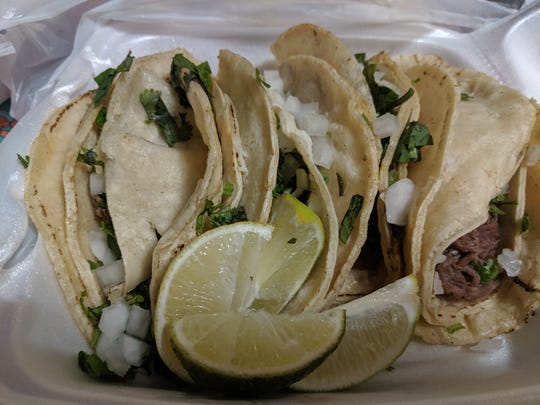 Barbacoa tacos at Tortilleria Lupita.