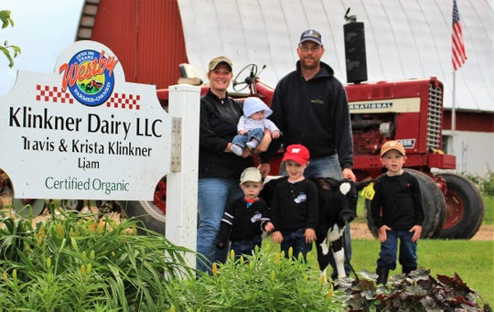 Travis and Krista Klinker and family.