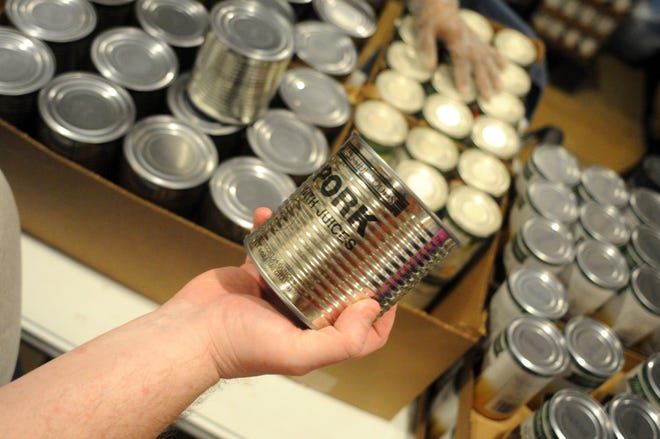 Canned pork from Lakeside Foods, purchased by the USDA through the agency's Trade Mitigation Program.