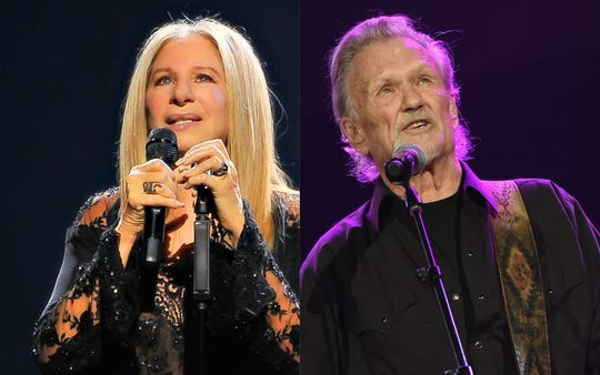 Barbra Streisand, left, and Kris Kristofferson