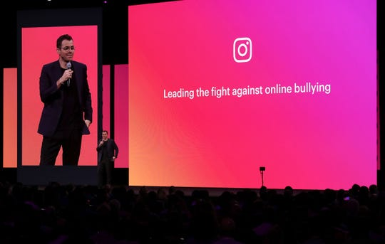 Instagram product head Adam Mosseri speaks during the F8 Facebook Developers conference on April 30, 2019 in San Jose, California.