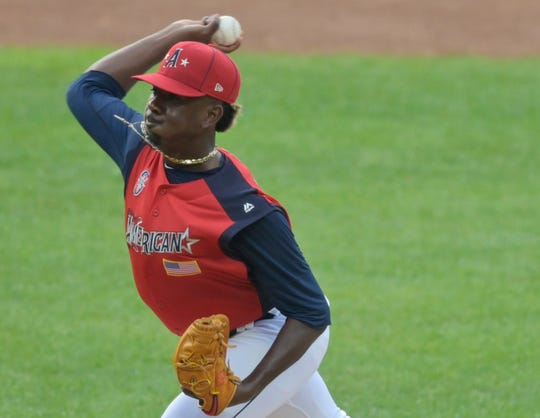 Justin Dunn during Monday's Futures Game in Cleveland.
