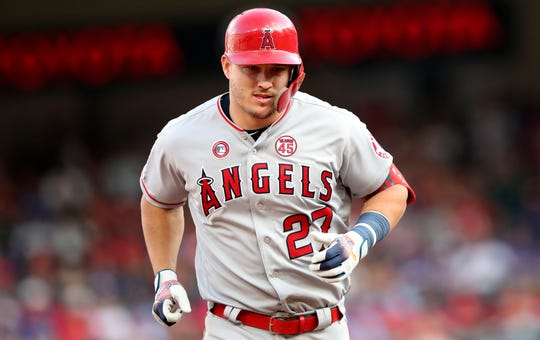 Trout has 28 home runs at the All-Star break.