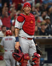 St. Louis Cardinals catcher Yadier Molina  during a June game.