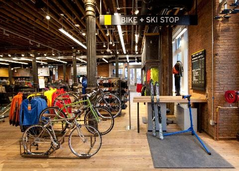 REI will have a bike department in its coming Appleton REI store. Shown here, REI SoHo in New York.