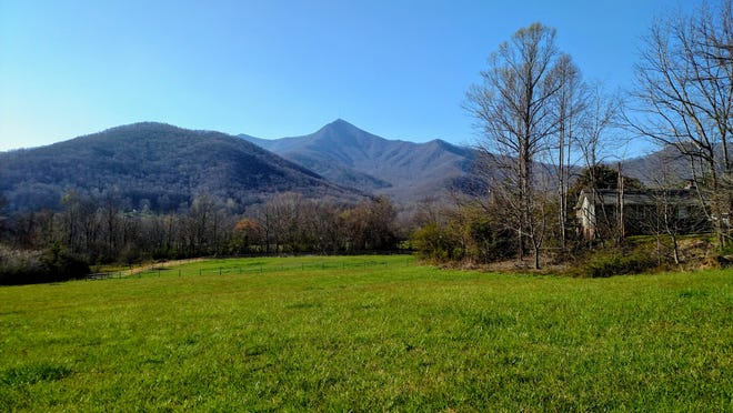Mount Pisgah can be seen in the distance from Pisgah View Ranch. The private ranch in Buncombe and Haywood counties received unanimous authorization by the General Assembly to become a new state park.
