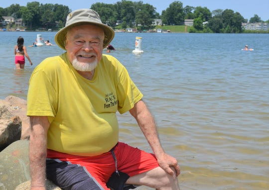 John Albright competed in Goguac Lake Swim almost four decades ago when he was a reporter for the Battle Creek Enquirer. He is now returning to do it again at 80 years old.