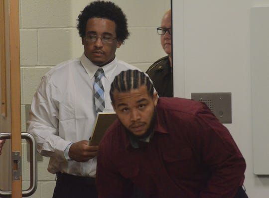 Davon West, left, and Jarviz Brown are on trial for attempted murder.