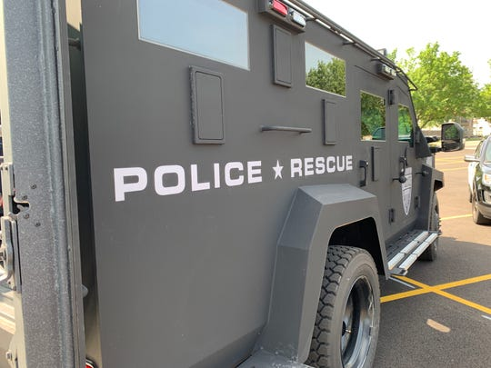 The Binghamton Police Department's Metro SWAT Team received a new BearCat, an armored police vehicle.