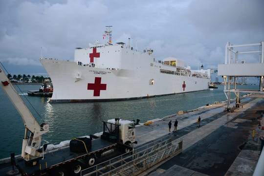 President Donald Trump will deploy the USNS Comfort, pictured here, to the New York City harbor to help deal with the COVID-19 outbreak, Gov. Andrew Cuomo announced Wednesday, March 18, 2020.