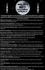 Titusville businesses offering discounts for the 50th anniversary of the moon landing.