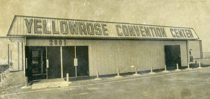 The Yellow Rose Convention Center and dance hall, seen in this 1974 photo, was located at 2001 Saratoga Blvd. in Corpus Christi.