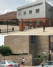 A university study compared gains by Camden students at renaissance schools, like Kipp Cooper Norcross Academy (top), and traditional public schools like U.S. Wiggins College Preparatory Lab Family School.