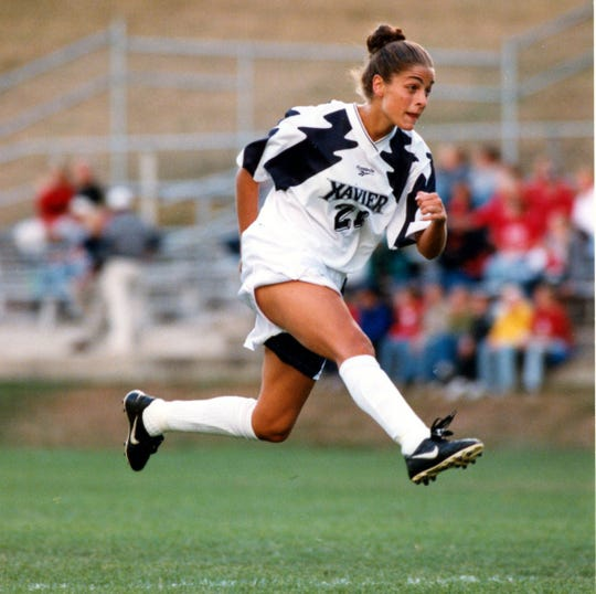 Annette Gruber led Xavier to its first two Atlantic 10 Championships in women's soccer, earning XU's first two trips to the NCAA Women's Soccer Championship in 1998 and 2000. She ranks second behind her sister, Amanda, on Xavier's all-time scoring list. Gruber was a four-time First Team All-Atlantic 10 selection and holds the single season (12) and career records (35) for assists.