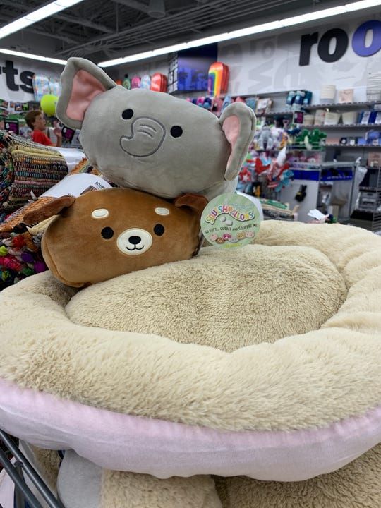 Pet bed and fluffy friends, $5