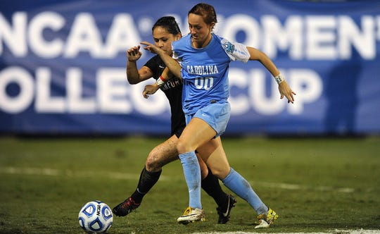 Alyssa Rich, a Milford graduate, played for the University of North Carolina women's soccer team against Stanford College Cup at Terero Stadium, San Diego, California, on Friday, November 30, 2012