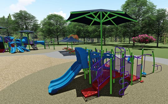 This is the playground equipment that's been ordered for the  second phase of the Shafer's Run Park upgrade. It is targeted for children ages 2-5 and will be installed next year.