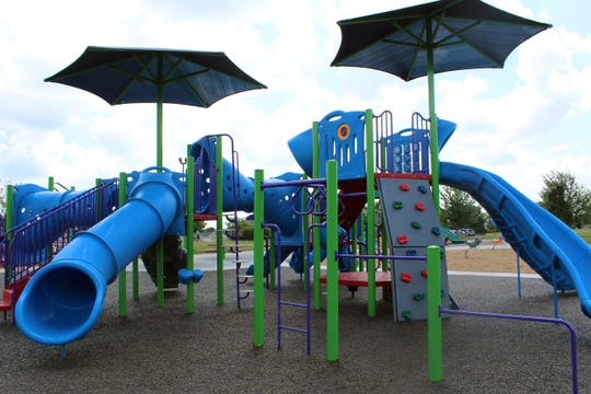 This is the new playground equipment installed this week for children ages 5-12.