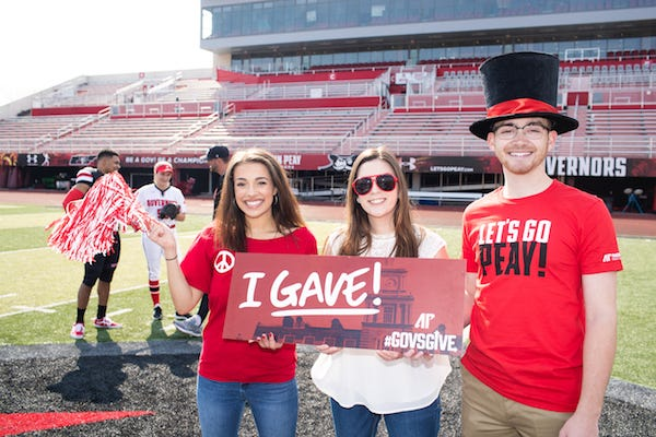 More than 3,000 individuals and organizations gave to various APSU programs during the 2019 fiscal year.