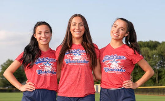 Spotswood's (from left) Jovanna, Angelina and Gabriella Alves will cheer for the Middlesex County squad at the Autoland Classic on July 18, 2019.