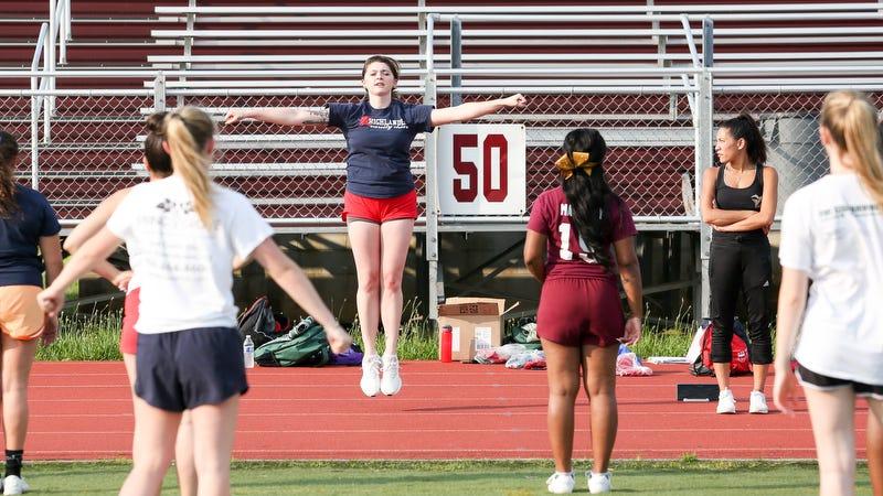 Youth Running Shorts Lindsey Girl Cheer Practice Shorts