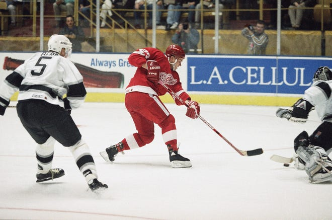 Former Red Wings forward Greg Johnson died Monday morning at his home in Metro Detroit. He was 48.
