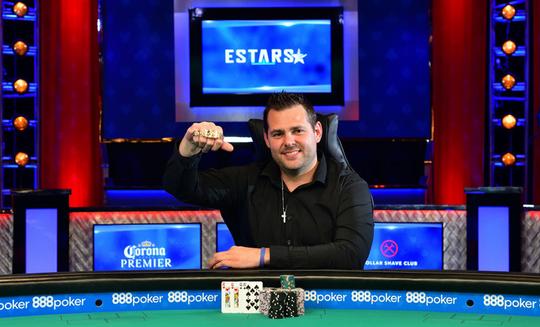 East Lansing's Dash Dudley earned his first World Series of Poker bracelet.