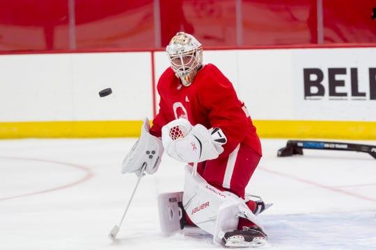 Goaltender Filip Larsson will start this season in Grand Rapids.