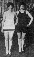 The first night of the 1926 Miss Elmira pageant had two winners, as the audience could not decide between Gladys Carpenter, left, and Theresa Dietrick.