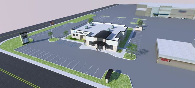 Rendering of proposed Deaconess Clinic on Green River Road.