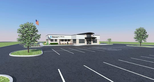 Rendering of planned Deaconess Clinic on Baseline Road.