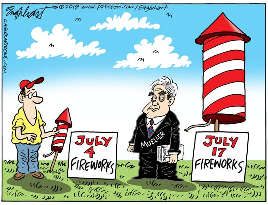 July Fourth fireworks, then Mueller fireworks.