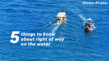 Follow these five tips from the U.S. Coast Guard to ensure proper boat safety.