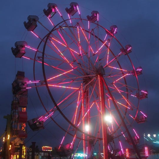 The Ferris wheel at the 2018 Kewaunee County Fair.